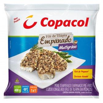 Filé de Tilápia Empanado Multigrãos Congelado 400g
