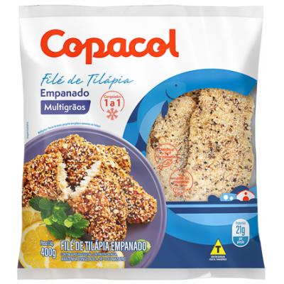 Filé de Tilápia Empanado Multigrãos Congelado 400 g