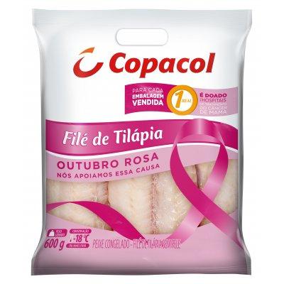 Filé de Tilápia Congelado 600 g  Outubro Rosa